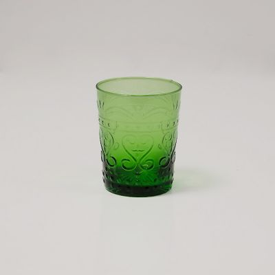Vintage Art Deco Water Glass Green