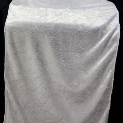 Crushed Velvet Table Runner 35CM x 275CM - White