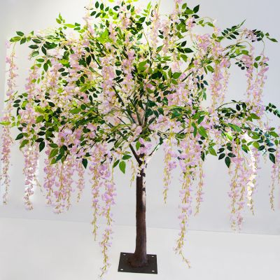 Artificial Wisteria Tree 170cm - Pink