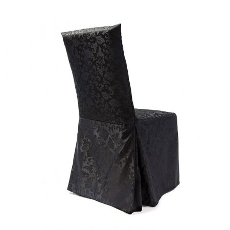 Damask Dining Chair Covers Rj04 Black Chair Cover Depot Uk