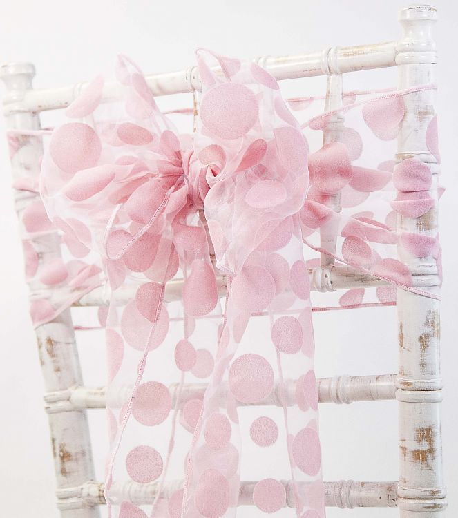 Flock and Pattern Organza Sashes