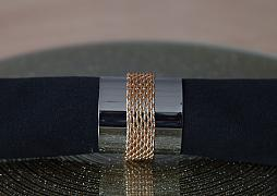Metal Napkin Rings with Chain Silver/Gold - 6 Pack