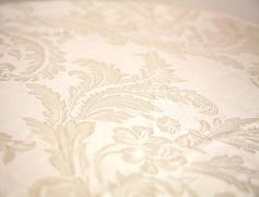 Damask Table Cloths 132 Round - Ivory