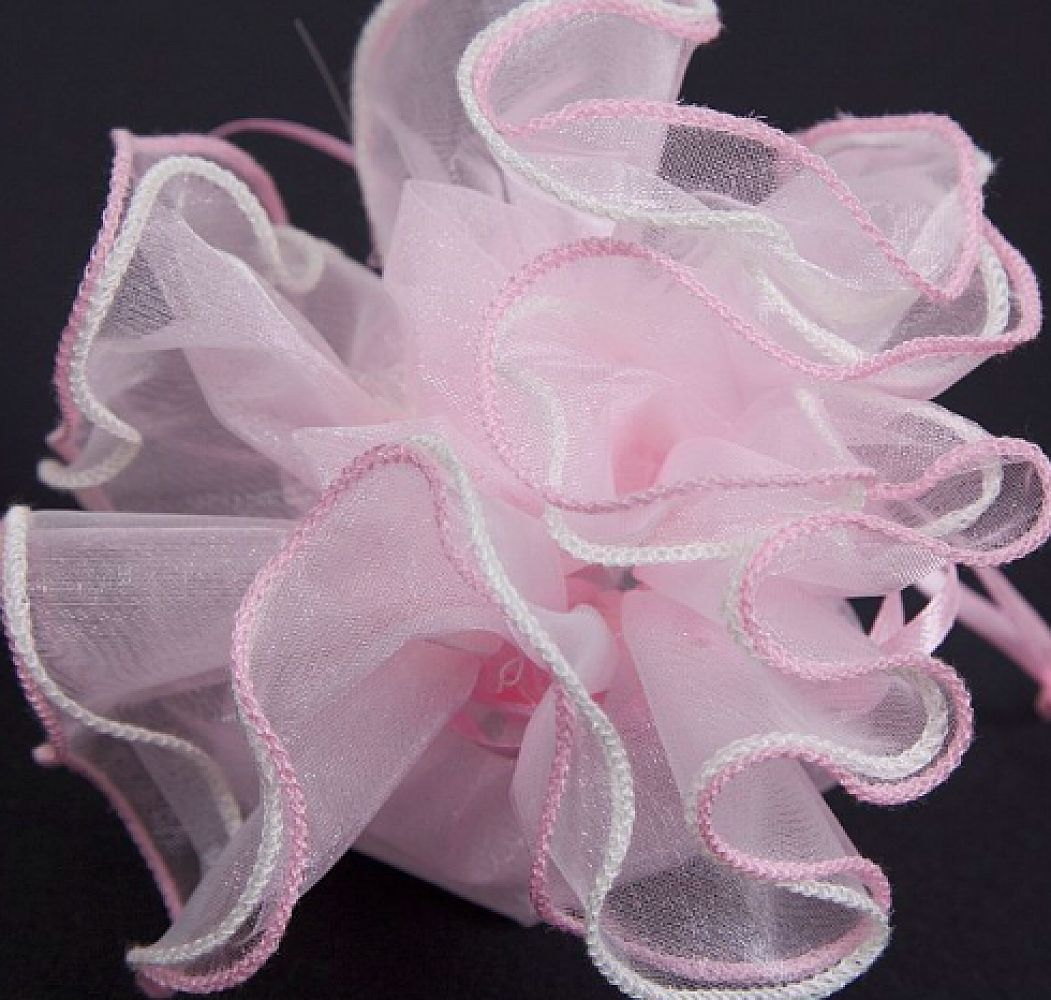 Round Rose Top Favour Bags - Pink