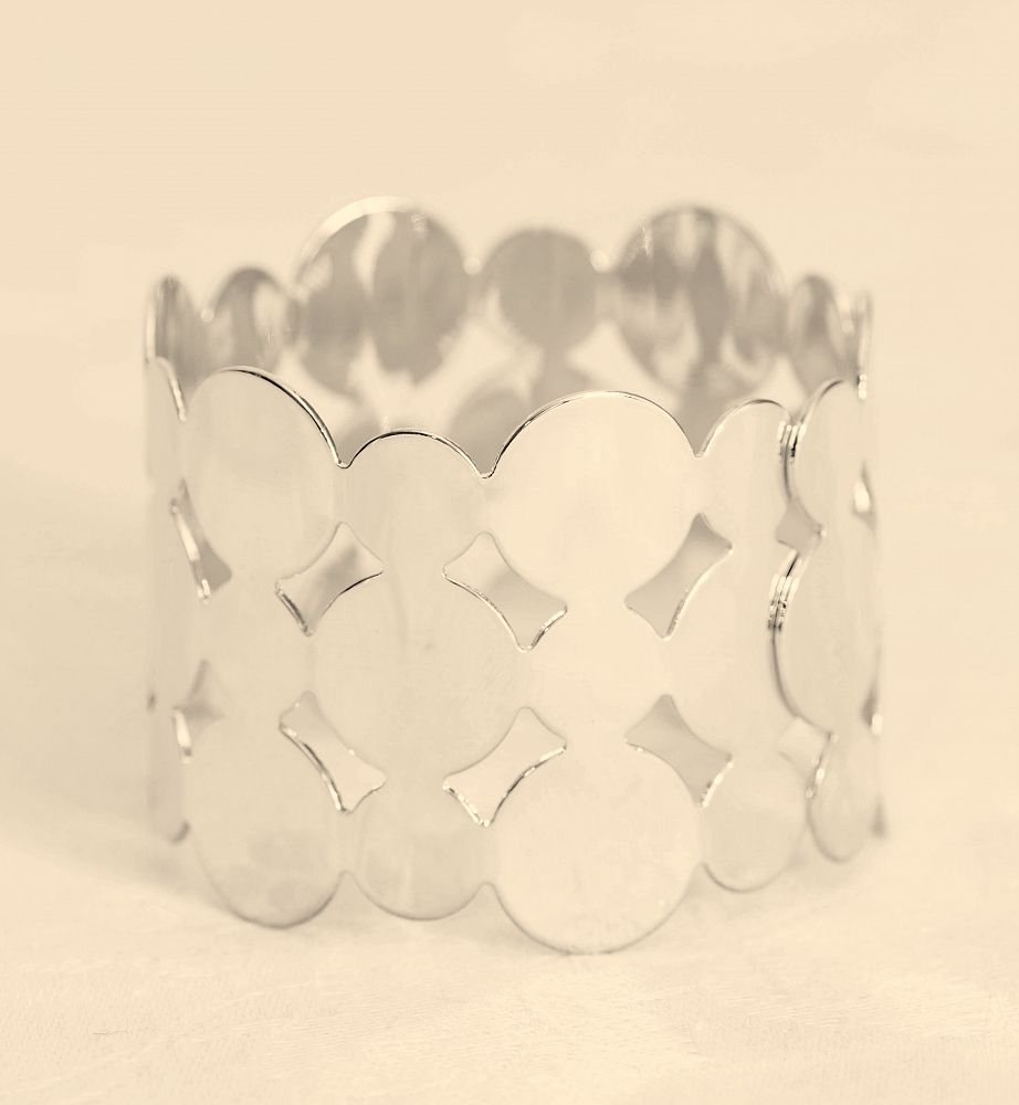 Cut Out Metal Napkin Rings Silver - 6 Pack
