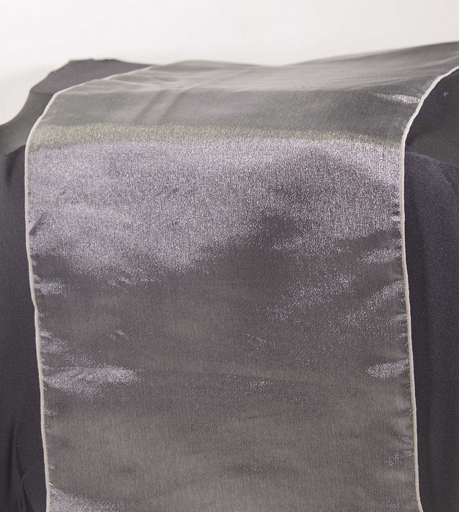 Organza Table Runners - Dark Silver