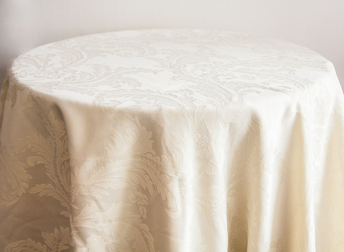 Damask Table Cloths 120 - Ivory