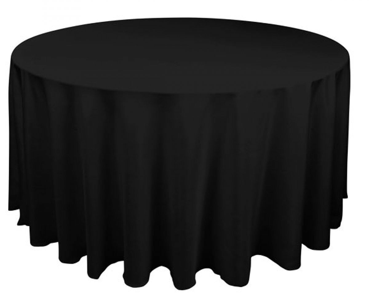 Buy table cloth spun poly 120 round black from chair for 120 round table cover