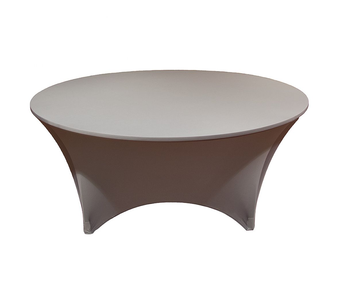 Buy Spandex Lycra 5ft Round Table Cloth Chocolate from Chair