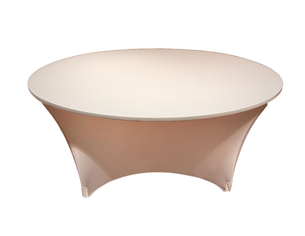 Buy Spandex Lycra 5ft Round Table Cloth Ivory from Chair Cover Depot