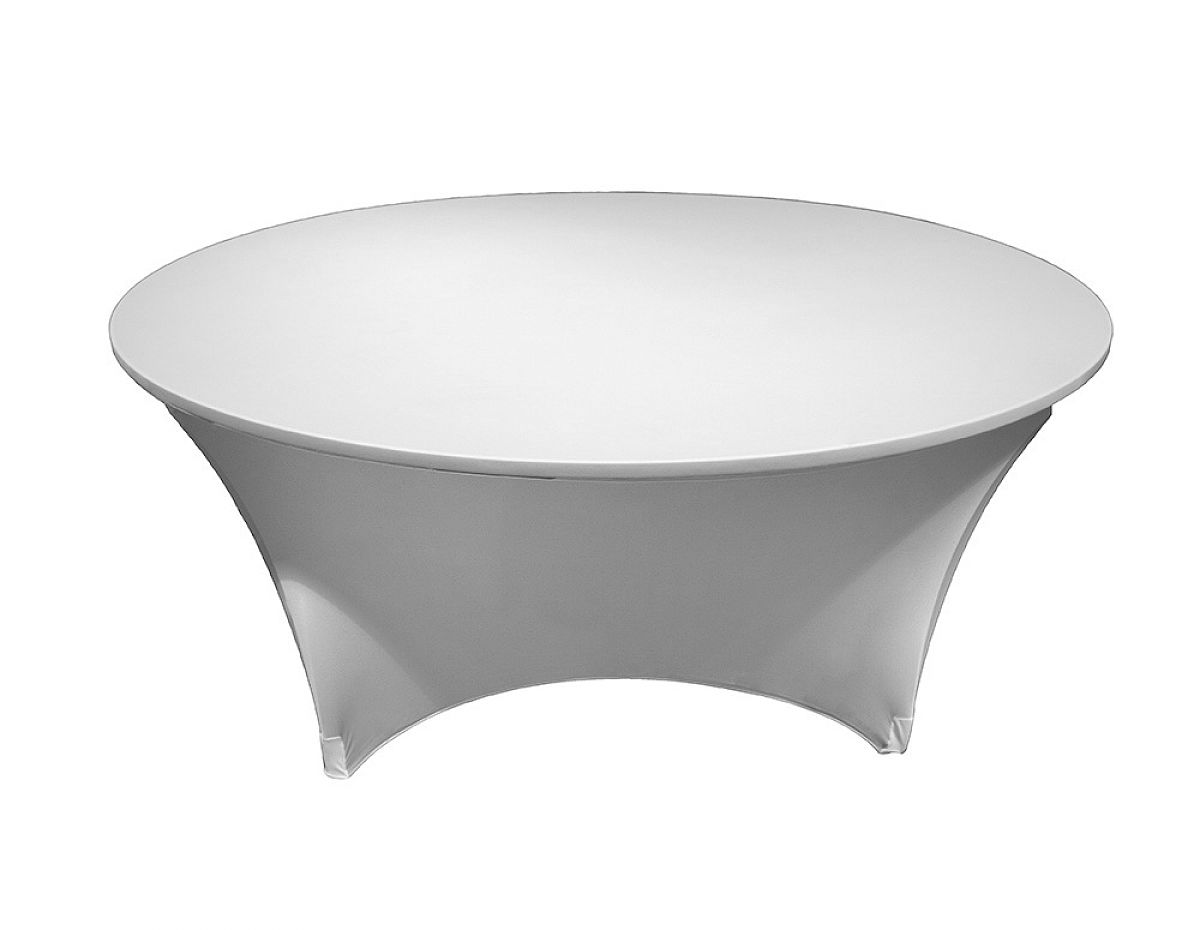 Buy Spandex Lycra 6ft Round Table Cloths White From