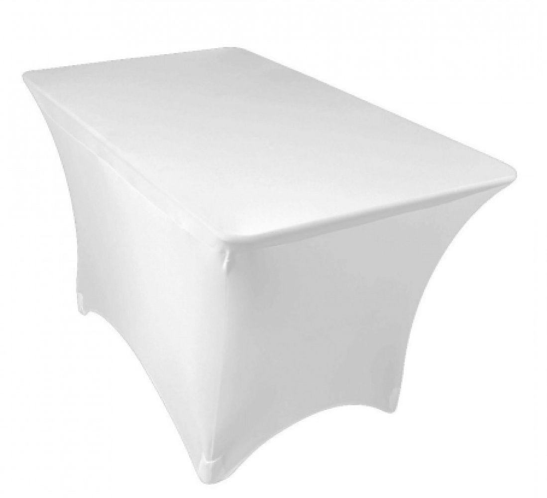 Spandex Lycra 4ft Rectangle Table Cloth - White