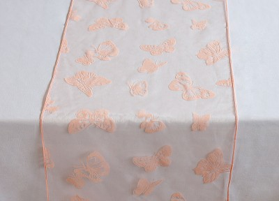 Organza Butterfly Table Runner - Pale Pink