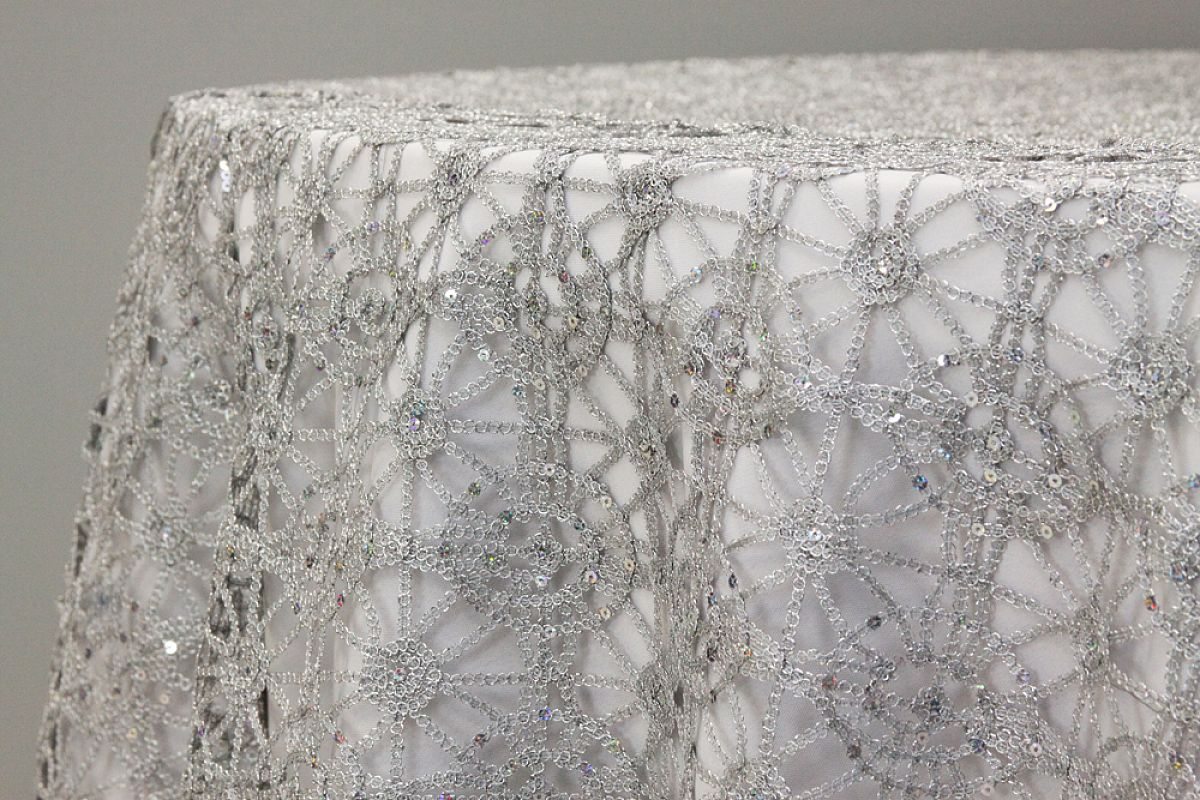 Chemical Lace Overlay - Silver