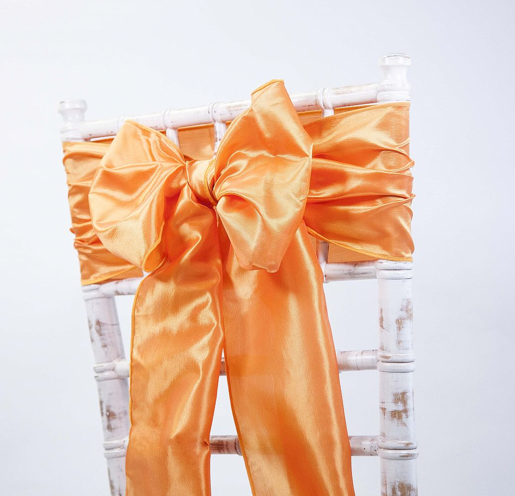 Taffeta Sash - Orange