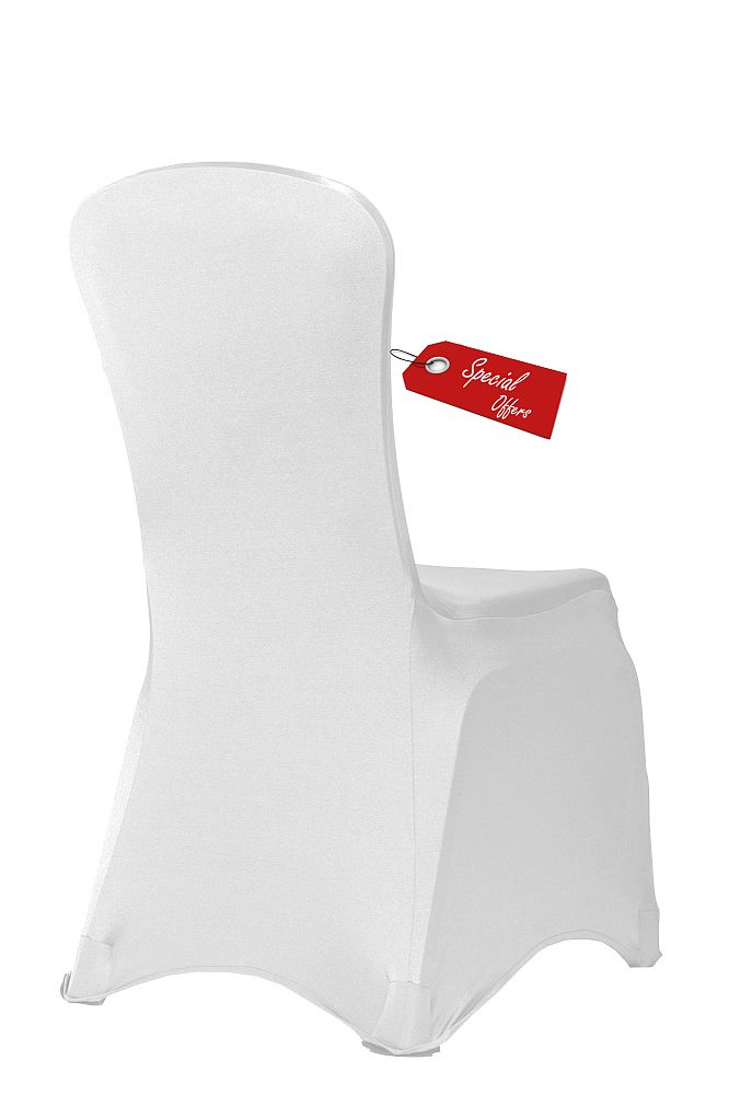 Buy Essential Spandex Lycra Chair Covers White X 100 From