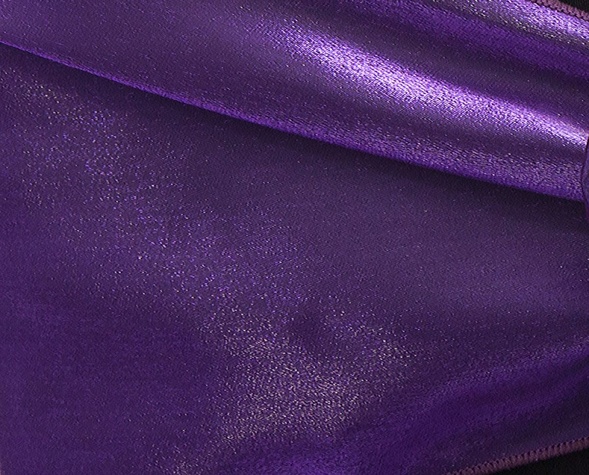 Buy Twinkle Satin Fabric Dark Purple From Chair Cover Depot