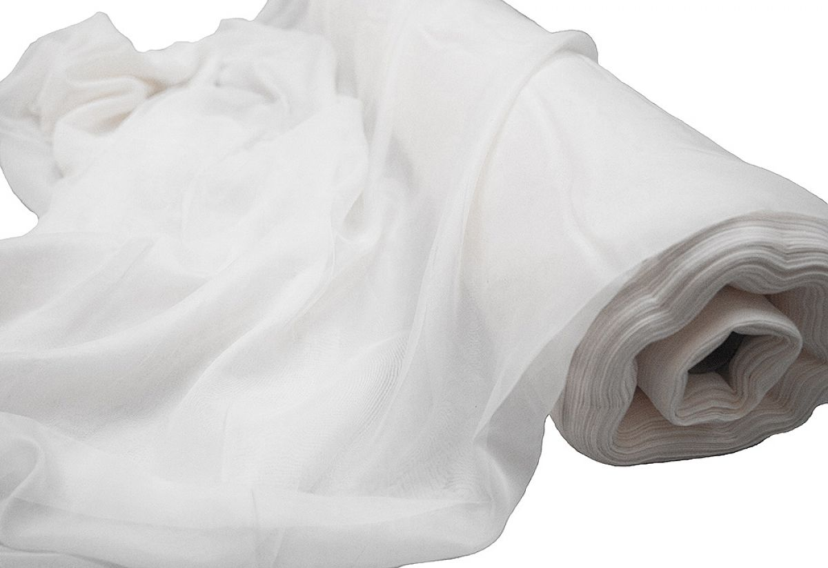 Buy voile 1 5m wide fabric roll 50m white from chair for Voile fabric