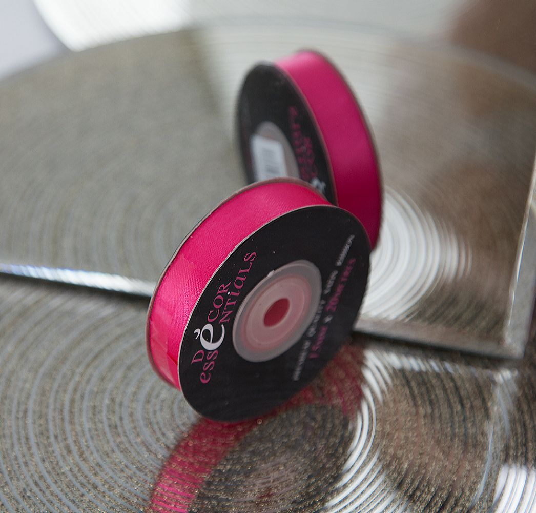 buy decor essential satin ribbon 10mm x 20m cerise from chair cover depot. Black Bedroom Furniture Sets. Home Design Ideas