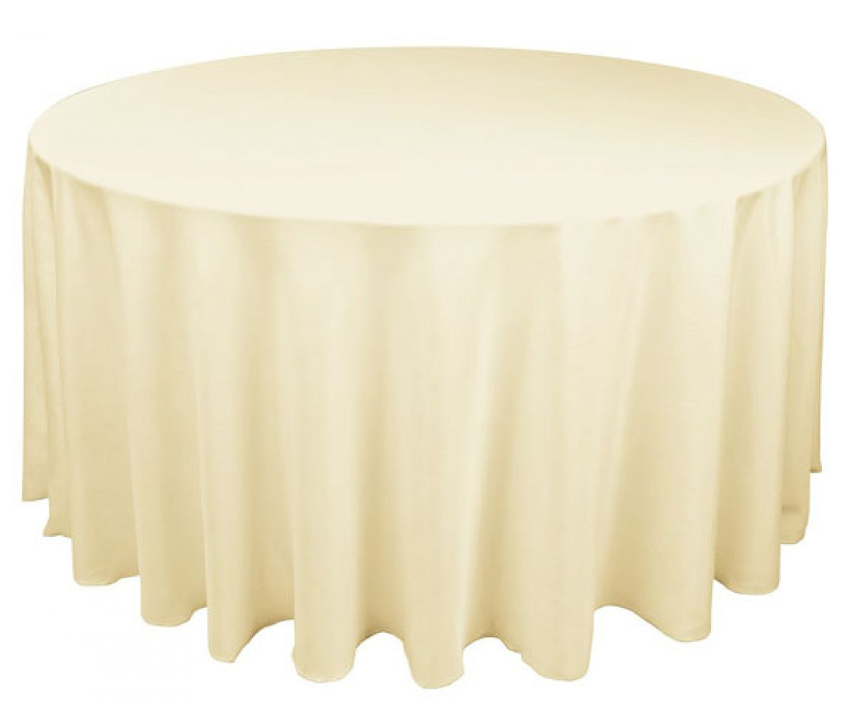 Buy table cloth spun poly 108 round ivory from chair for 108 round table cloth