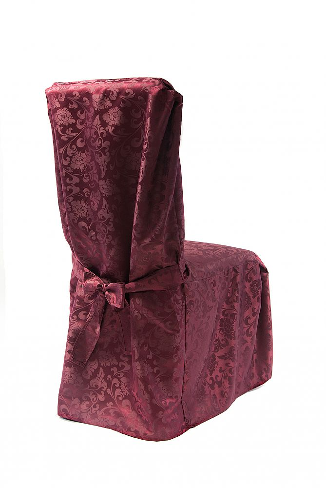 Dining Chaircovers with Ties RJ03 - Burgandy