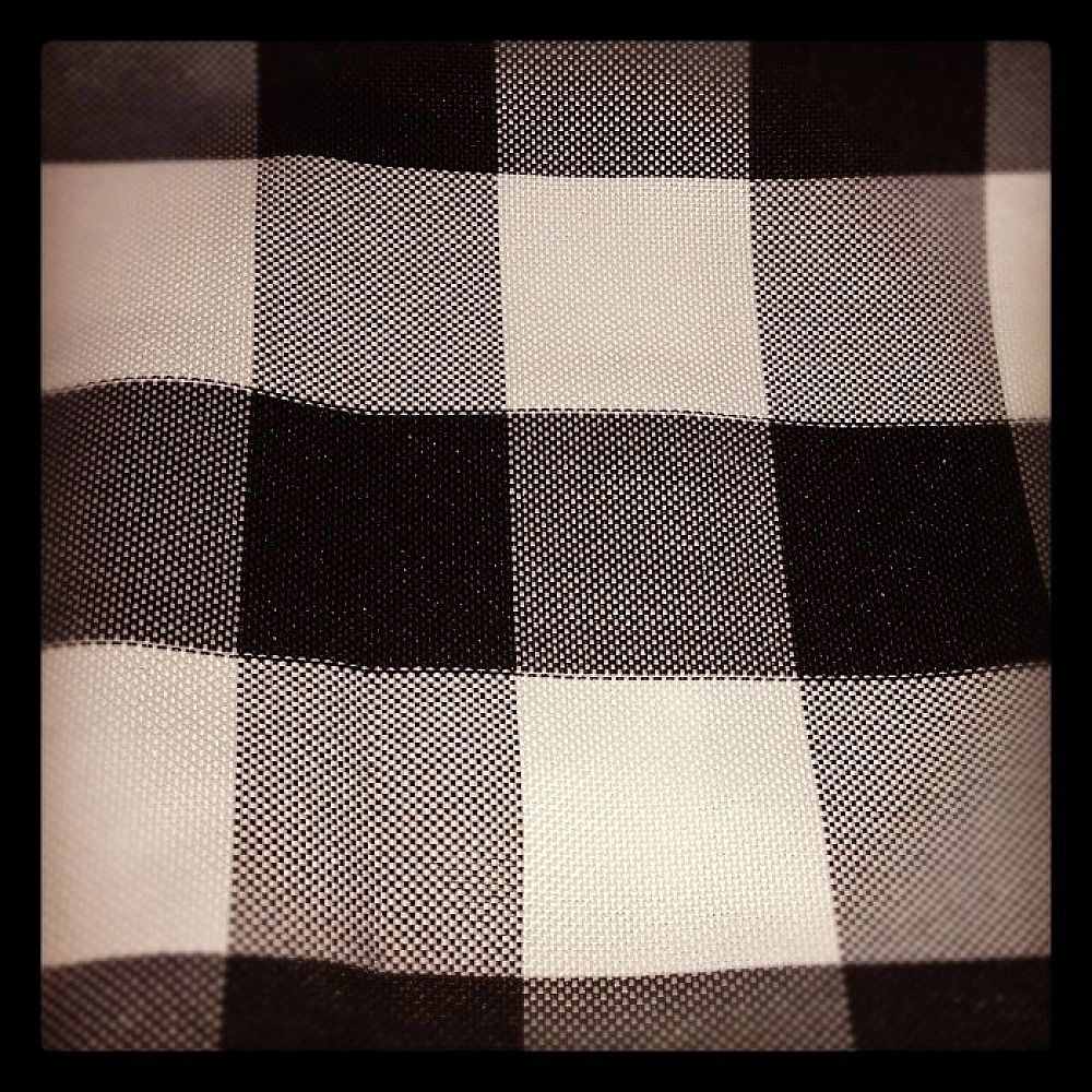 Checked Napkins - Black/White