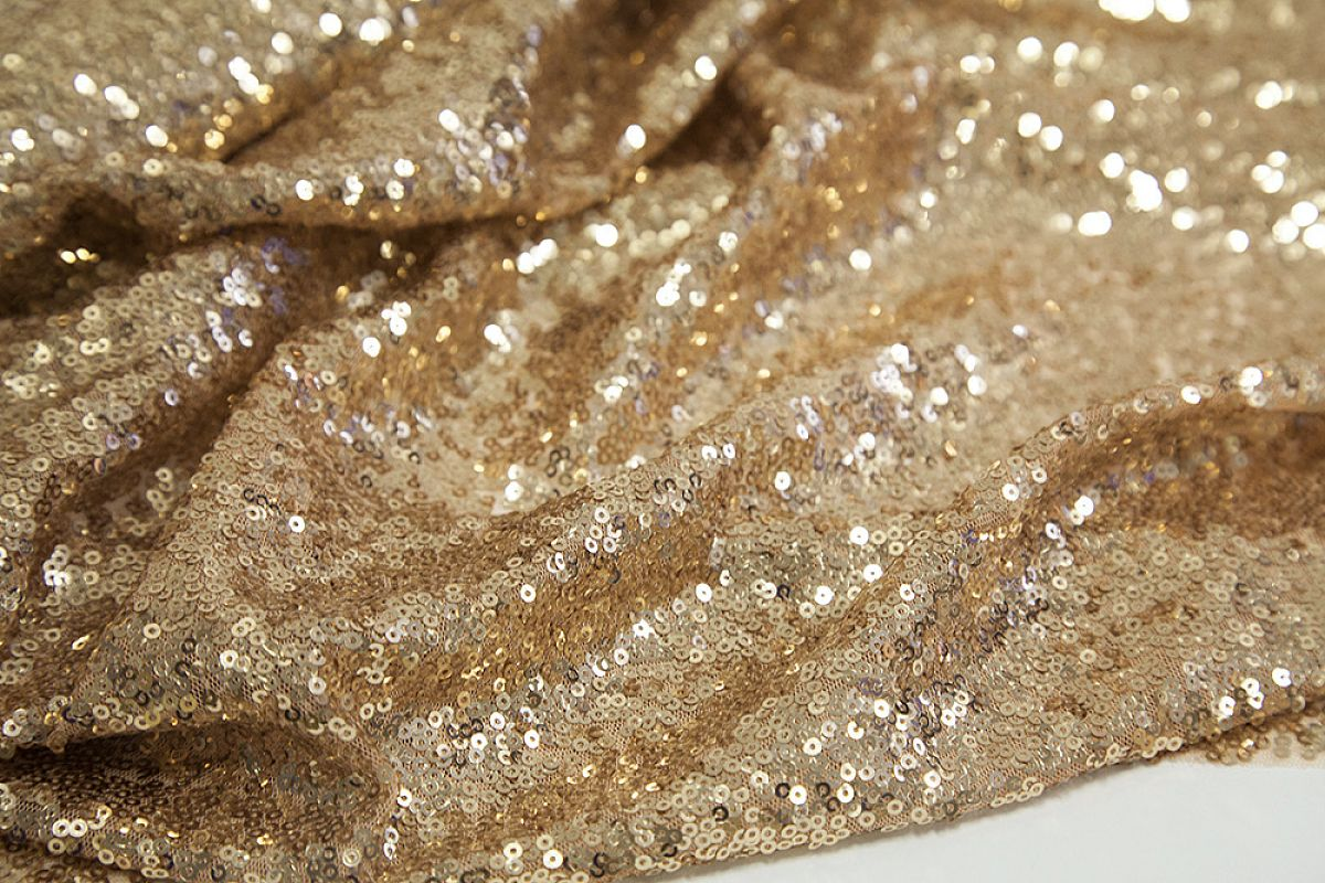 Sequin Fabric Roll 20M - Gold