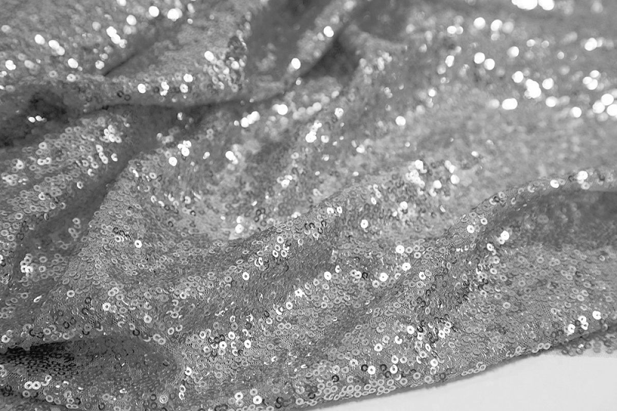 Sequin Fabric Roll 20M - Silver