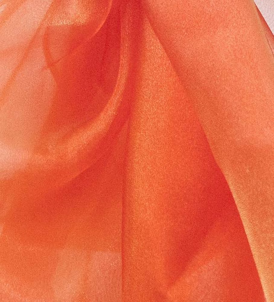 Organza Fabric - Orange/Yellow
