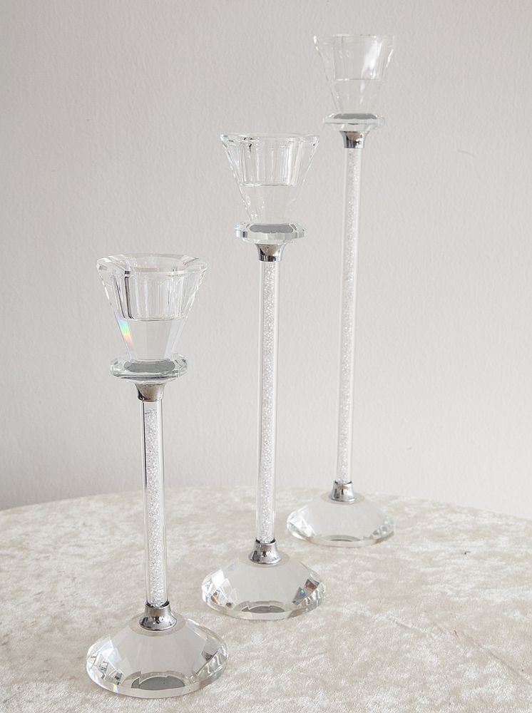Crystal Candle Holder - 24CM