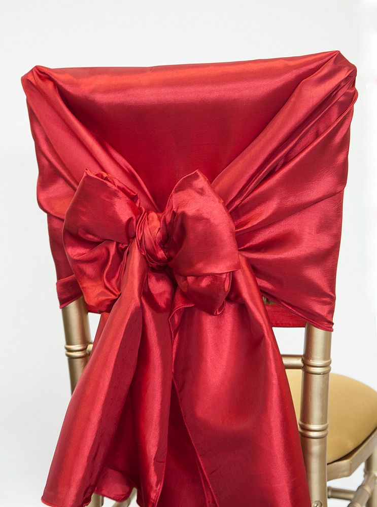Taffeta Chair Hood - Red