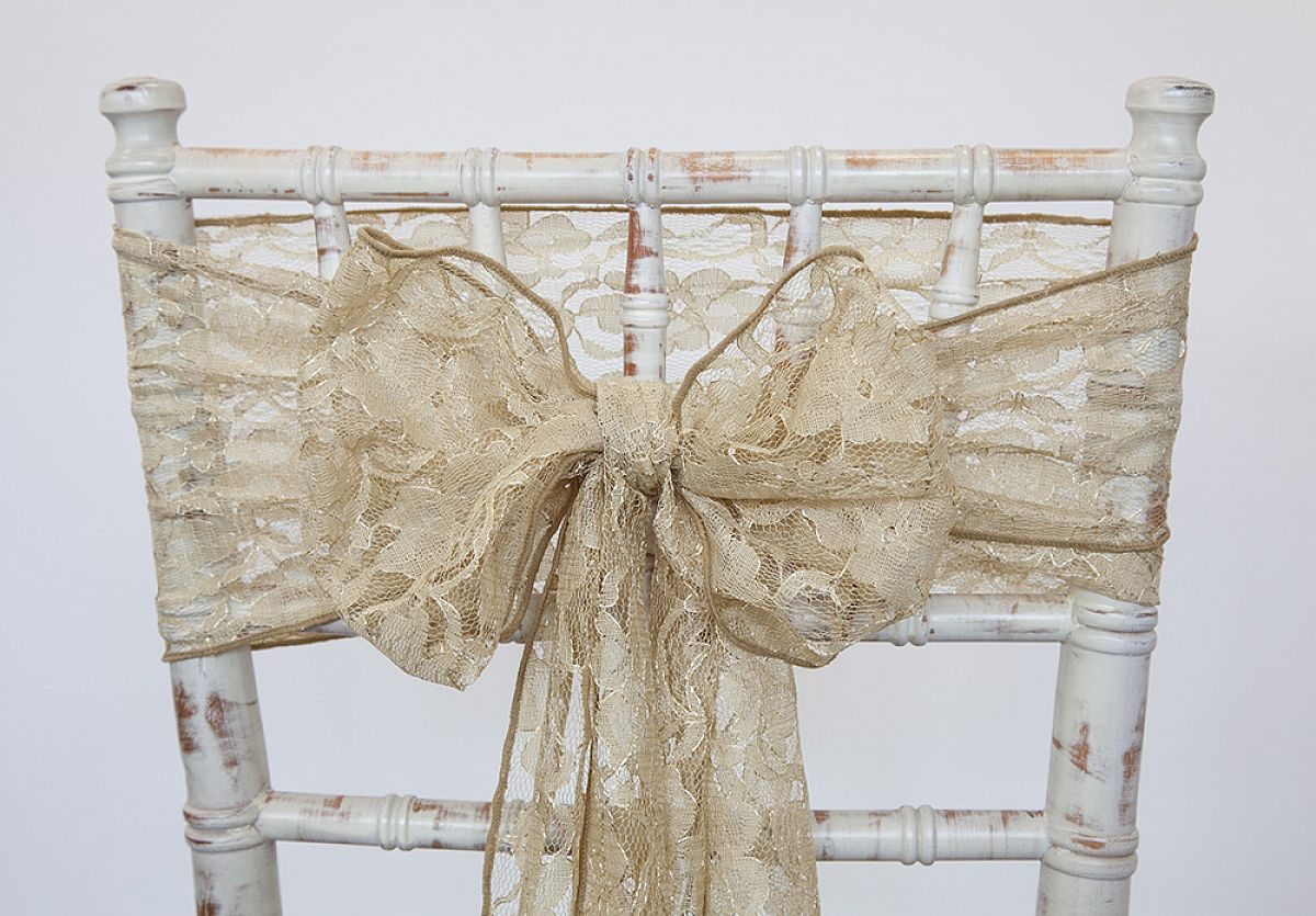 Lace Sash - Antique Gold