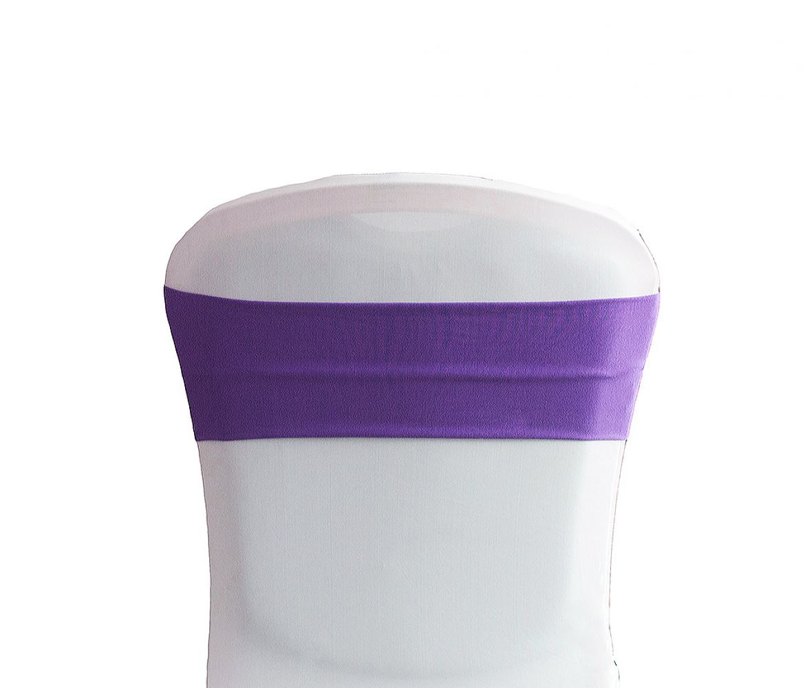 buy lycra chair bands cadbury purple from chair cover depot