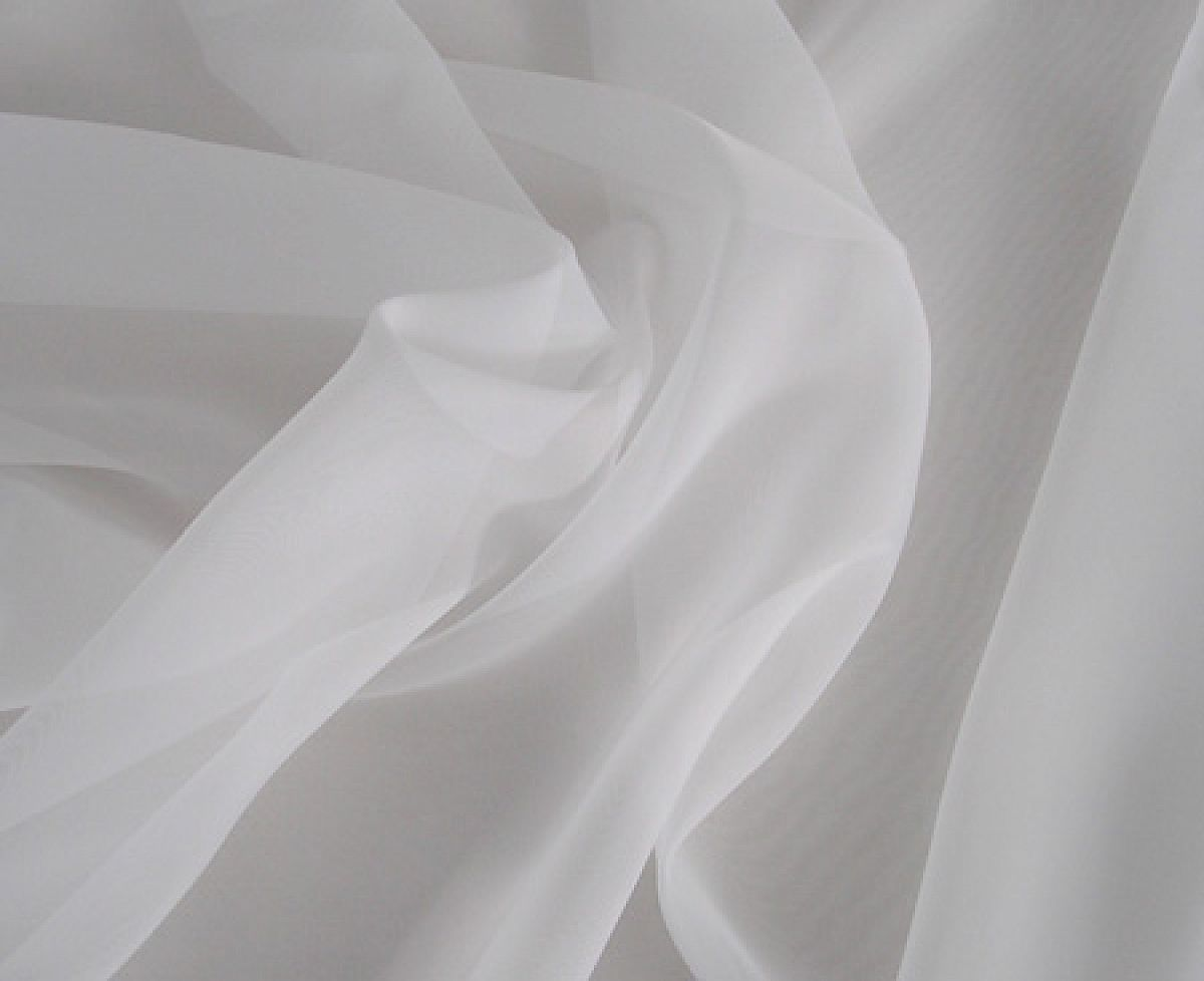 Buy voile fabric 2 8m wide white from chair cover depot for Voile fabric