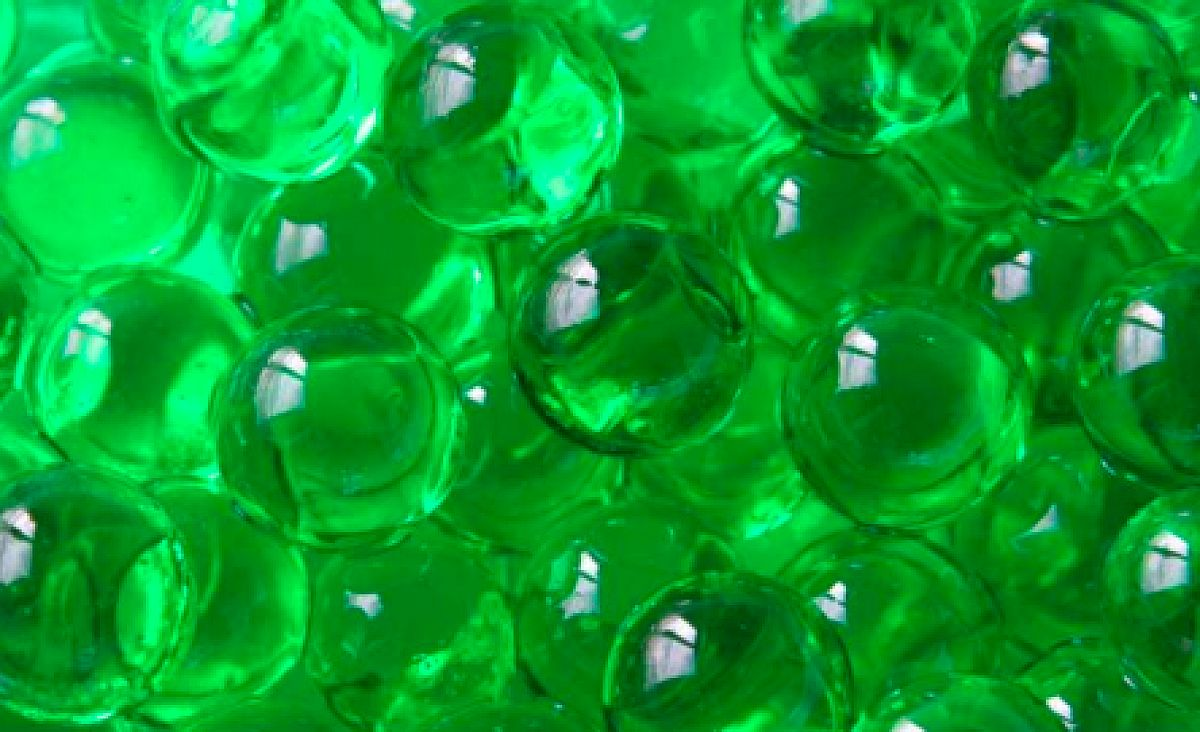 Water Pearls 100g 12mm - Green