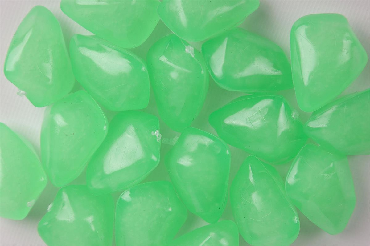 Floating Acrylic Stones 50 Pack - Green