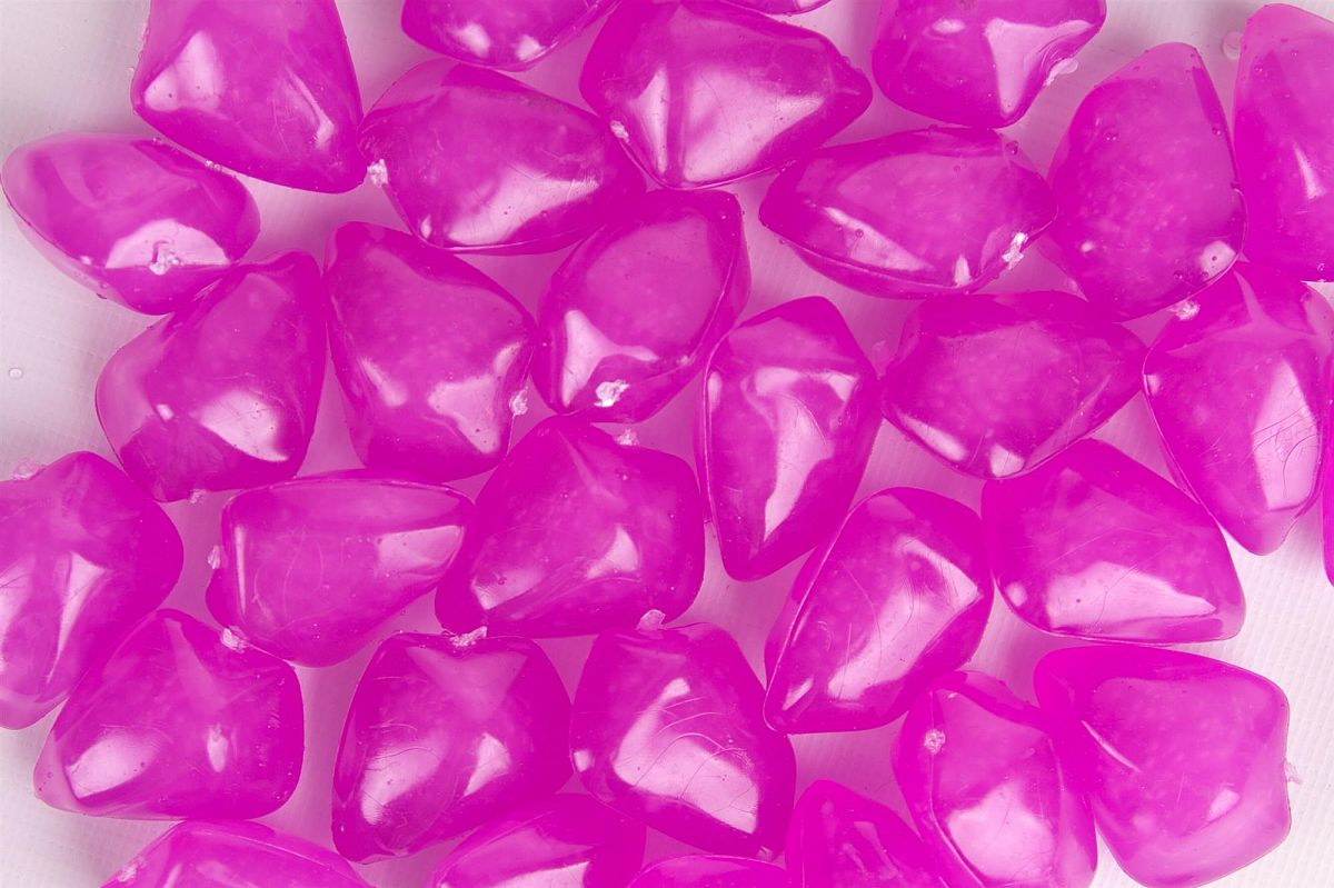 Floating Acrylic Stones 50 Pack - Pink