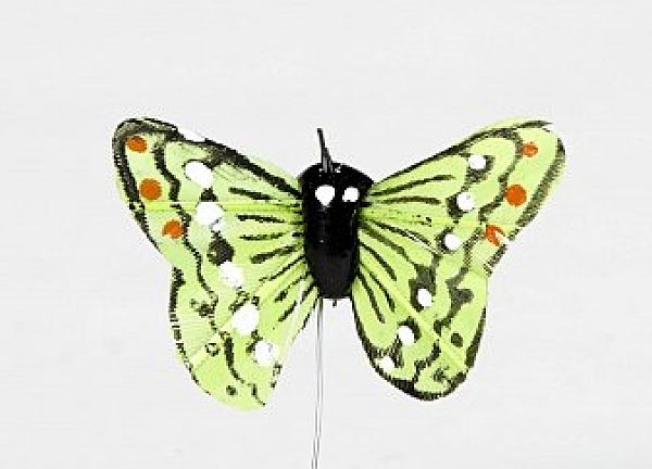 01 Hand Painted Butterflies - Green