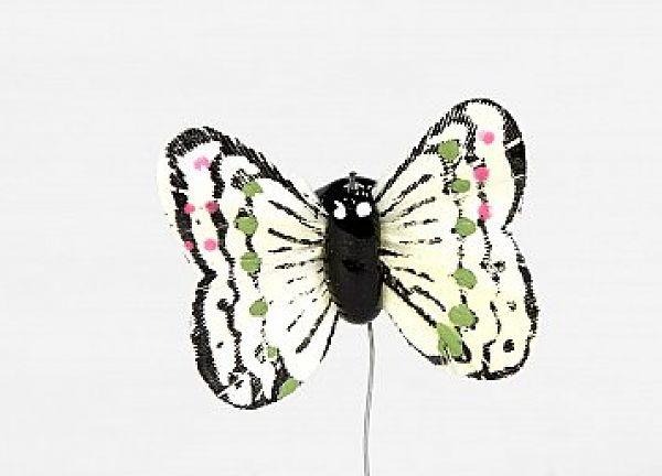 01 Hand Painted Butterflies - Ivory