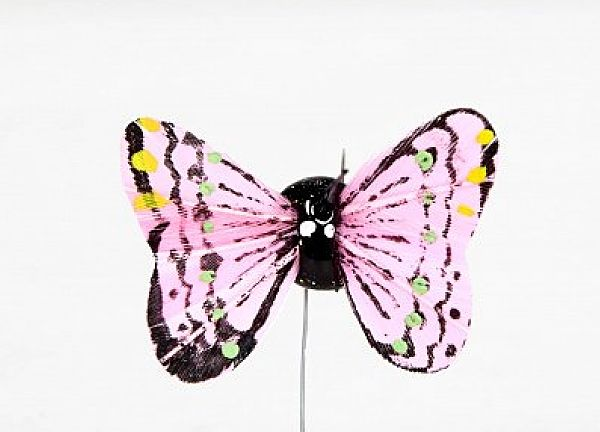01 Hand Painted Butterflies - Pink