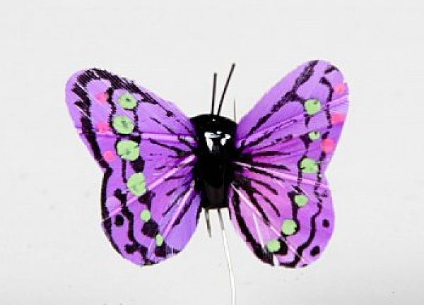 01 Hand Painted Butterflies - Purple