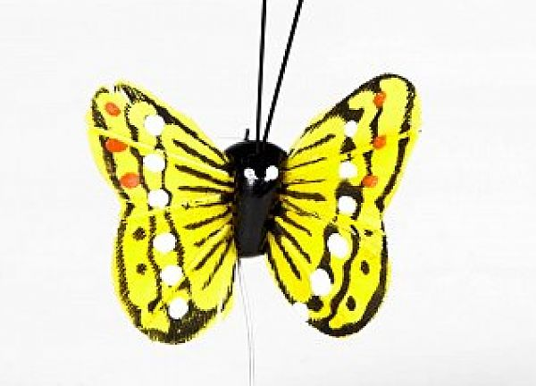 01 Hand Painted Butterflies - Yellow