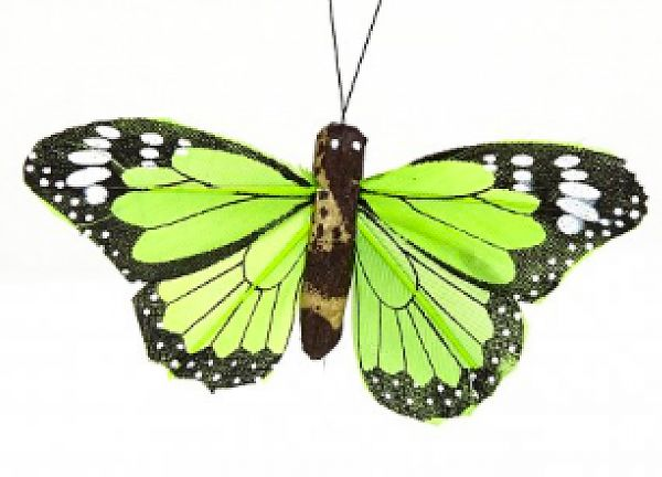 02 Hand Painted Butterflies - Green