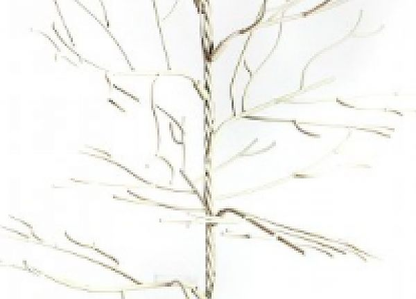 Metal Crystal Hanging Tree 3ft/4ft - Cream