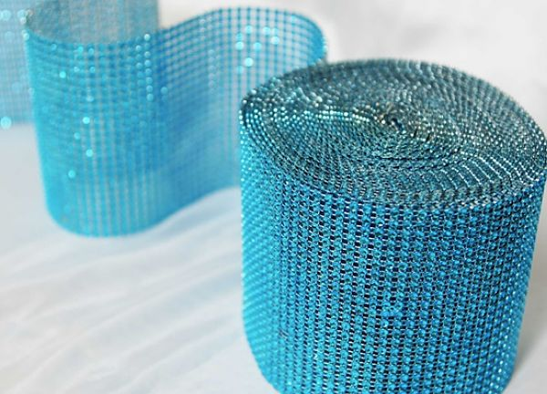 Diamante Mesh Rolls 24 Line - Blue