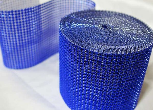 Diamante Mesh Rolls 24 Line - Royal Blue