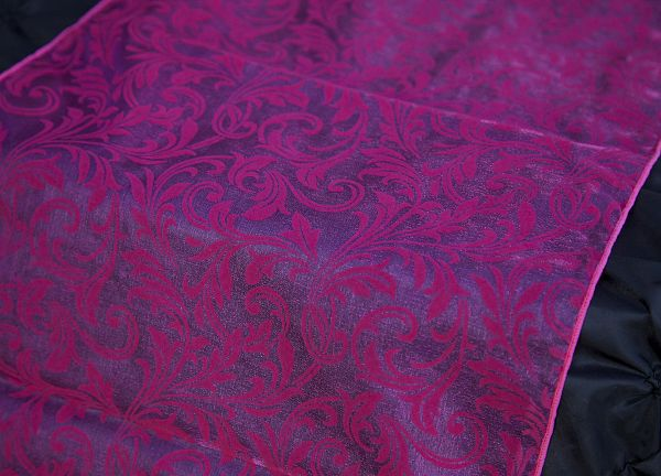 Flock Organza Table Runners - Hot Pink