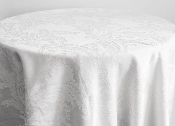 Damask Table Cloths 120 - White