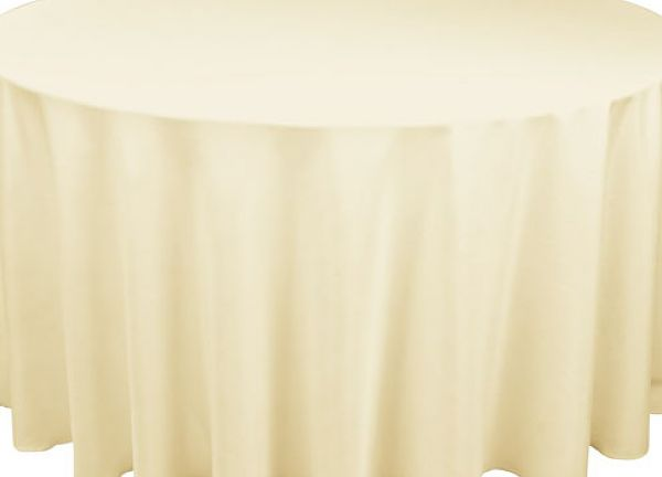 Table Cloth Spun Poly 120 Round - Ivory