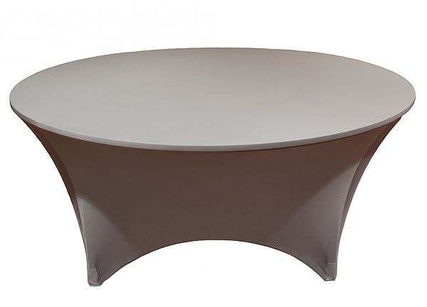 Spandex Lycra 5ft Round Table Cloth - Chocolate